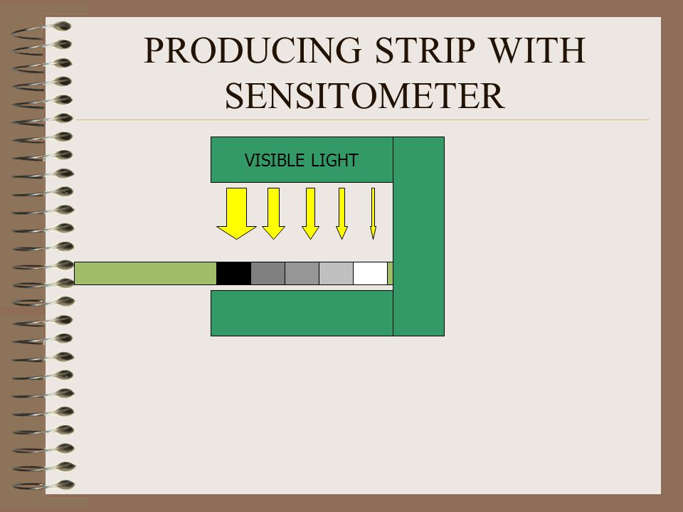 PRODUCING STRIP WITH SENSITOMETER