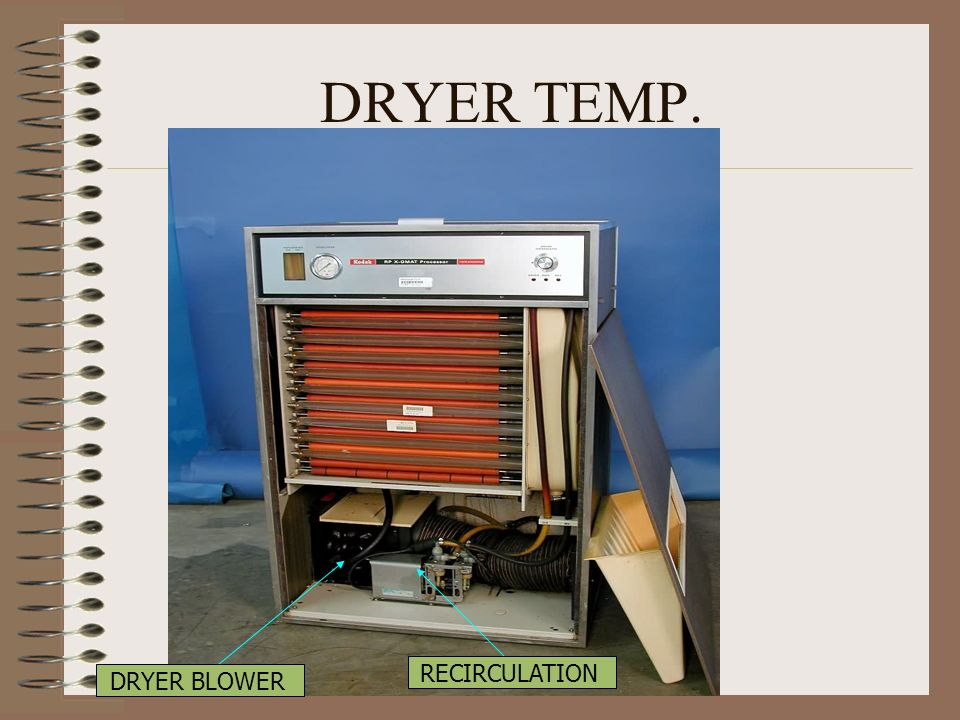 DRYER TEMP. RECIRCULATION DRYER BLOWER