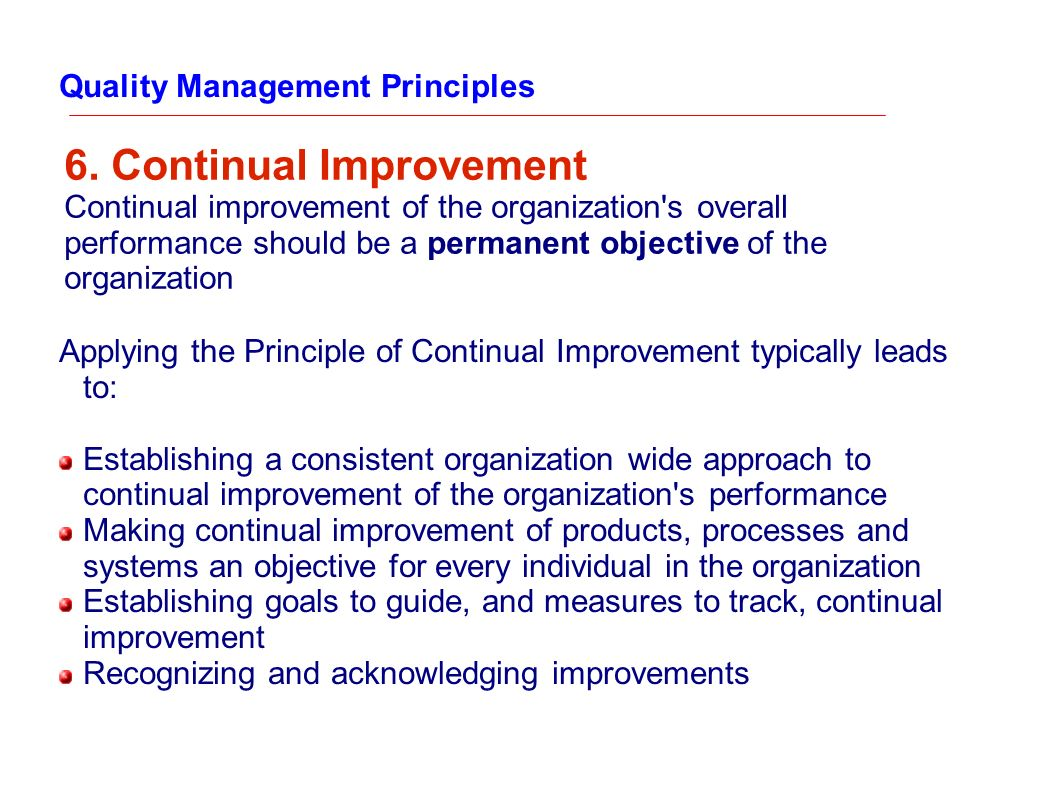 6. Continual Improvement