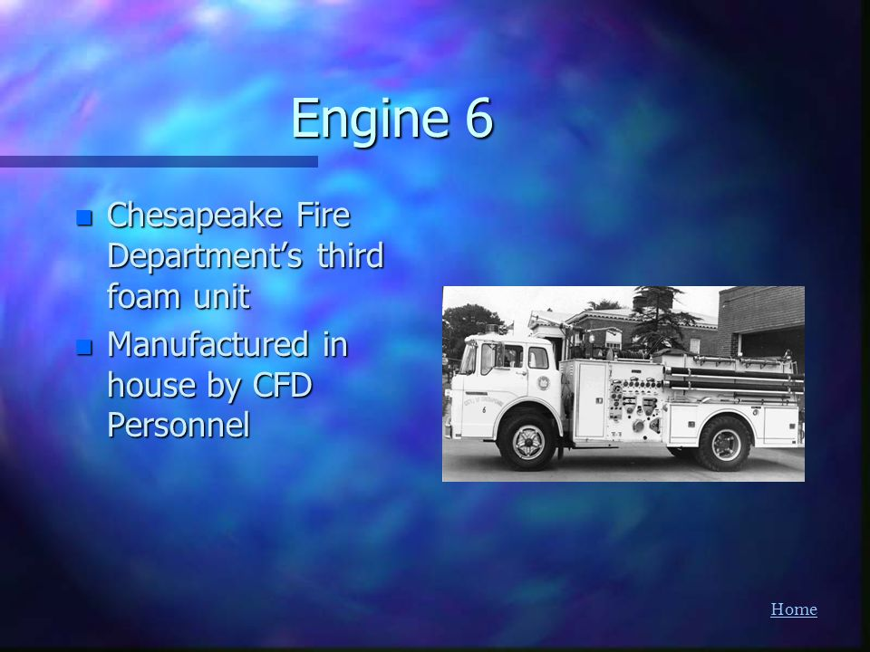Engine 6 Chesapeake Fire Department's third foam unit