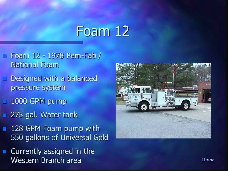 Foam 12 Foam Pem-Fab / National Foam