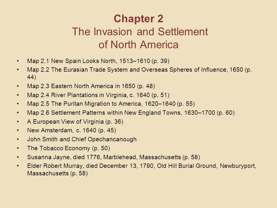 Chapter 2 The Invasion and Settlement of North America