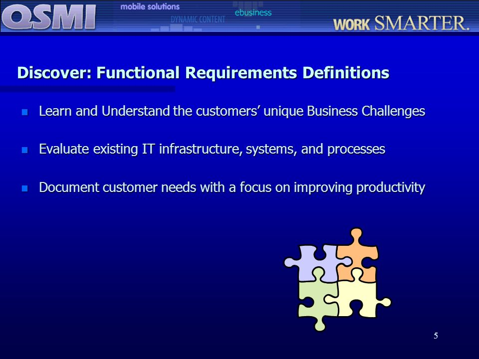 Discover: Functional Requirements Definitions