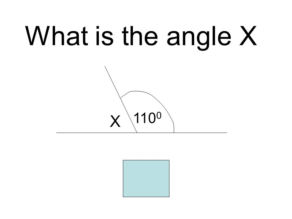 What is the angle X 1100 X 70
