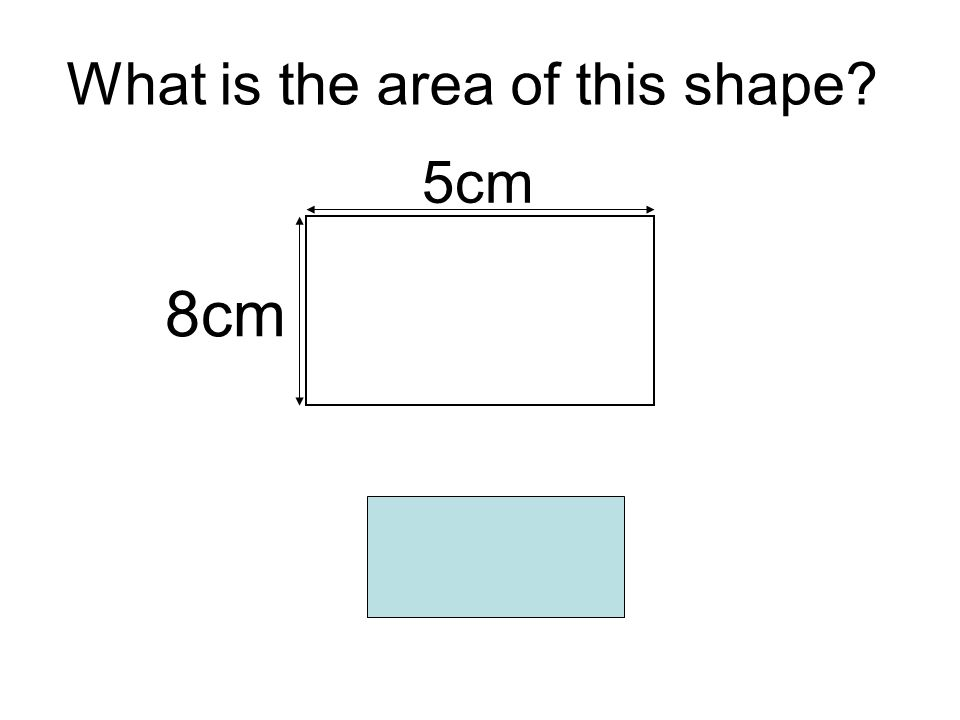 What is the area of this shape