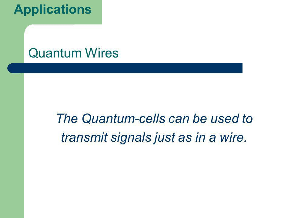 The Quantum-cells can be used to transmit signals just as in a wire.
