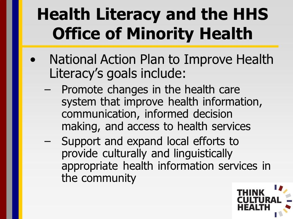 Health Literacy and the HHS Office of Minority Health