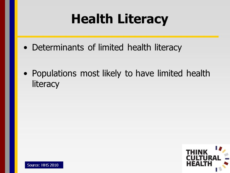 Health Literacy Determinants of limited health literacy