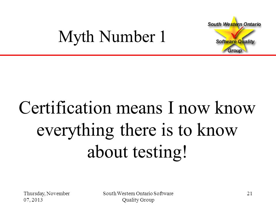 Certification means I now know everything there is to know
