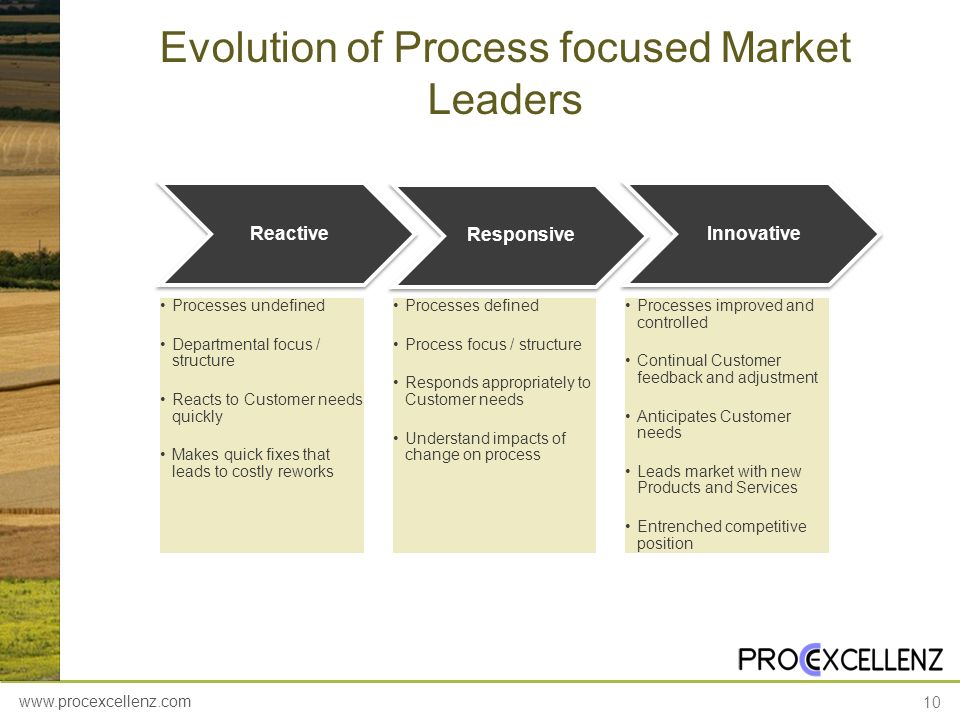 Evolution of Process focused Market Leaders