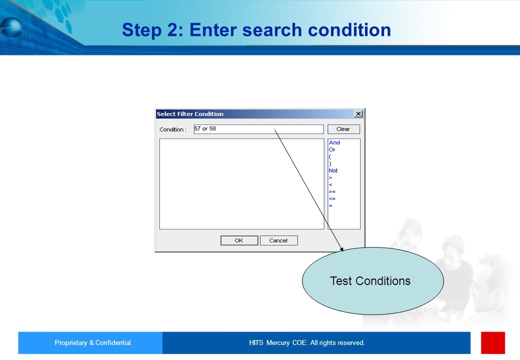 Step 2: Enter search condition