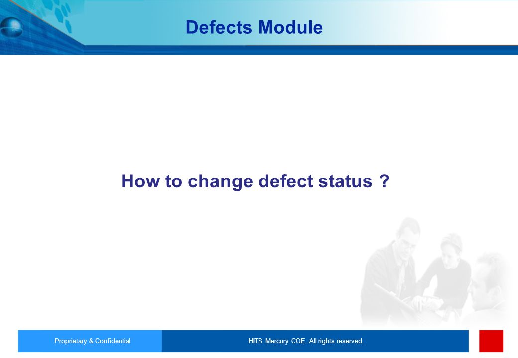 How to change defect status