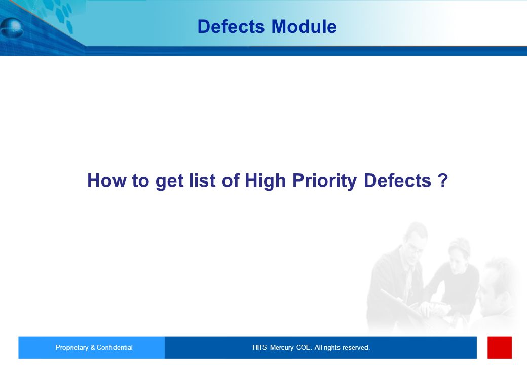 How to get list of High Priority Defects
