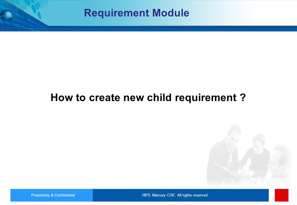 How to create new child requirement