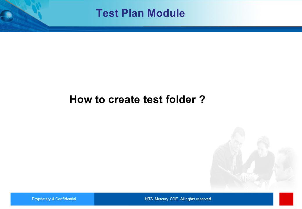 How to create test folder
