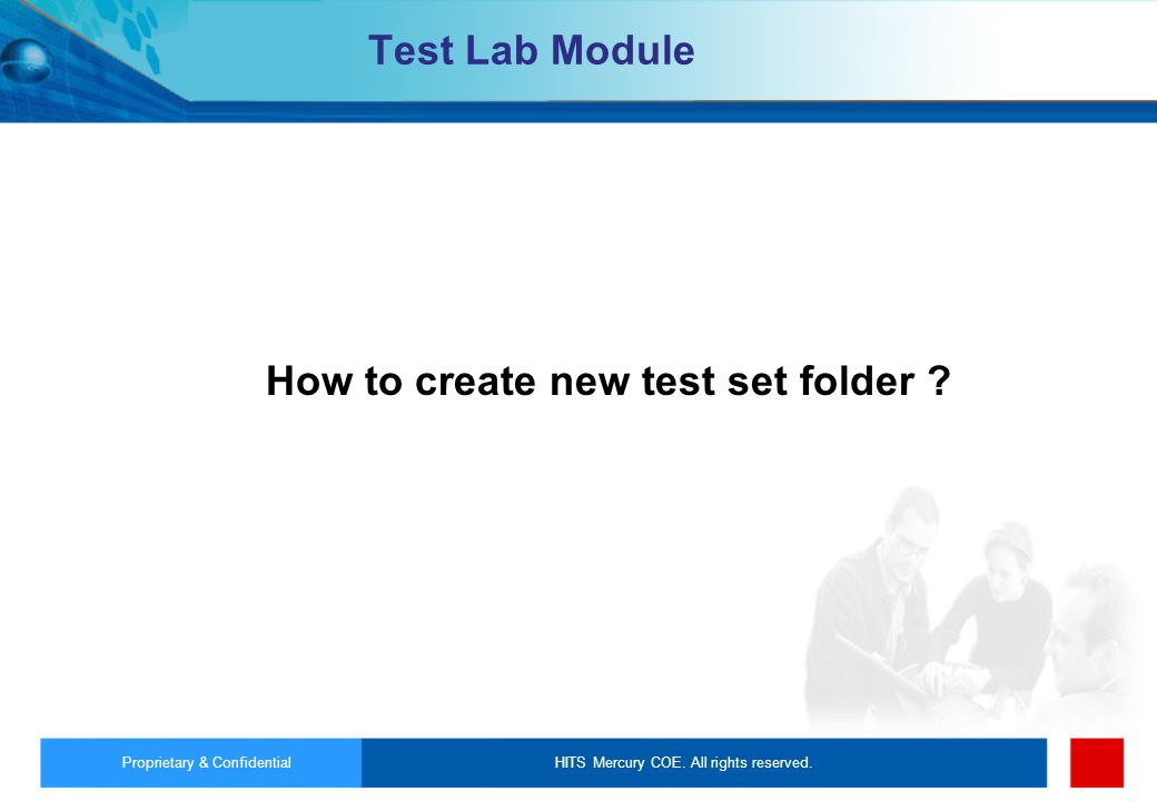How to create new test set folder