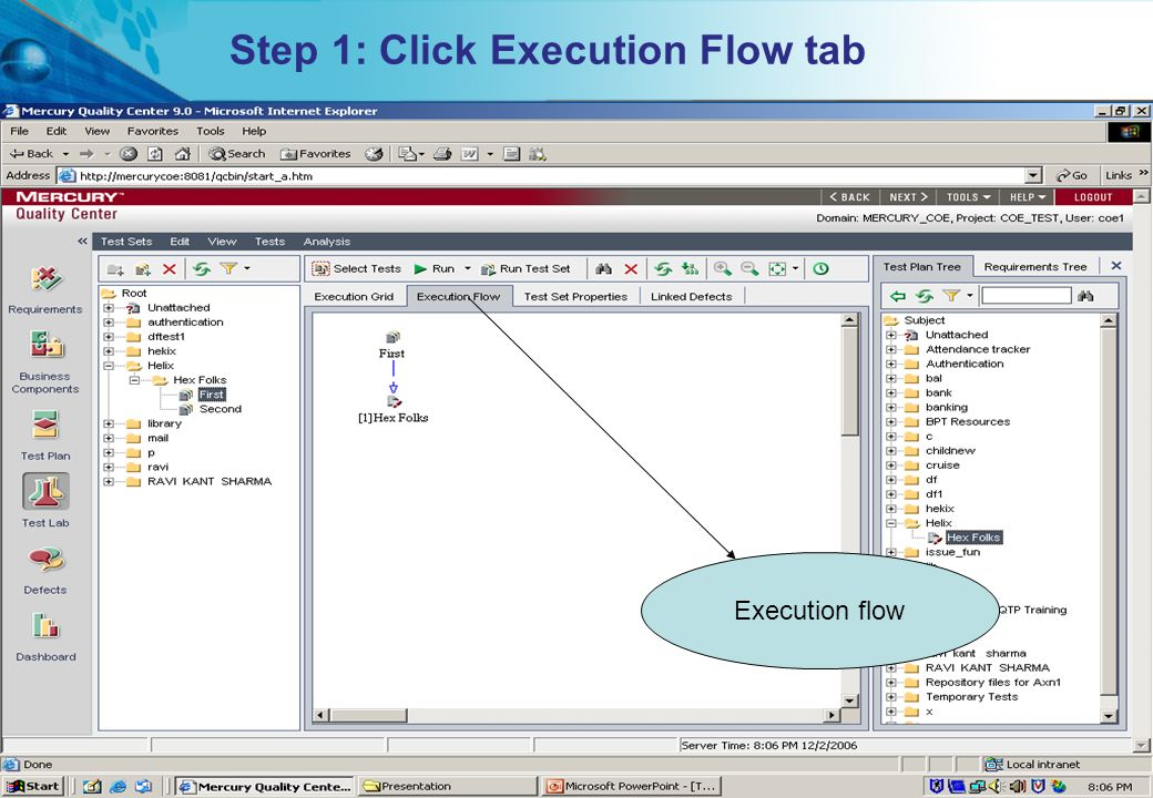 Step 1: Click Execution Flow tab