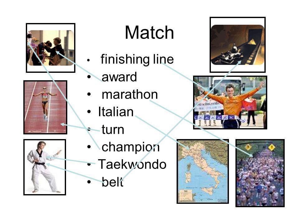 Match award marathon Italian turn champion Taekwondo belt
