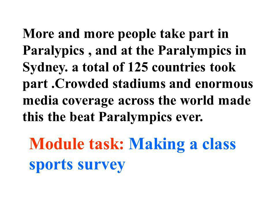 Module task: Making a class sports survey