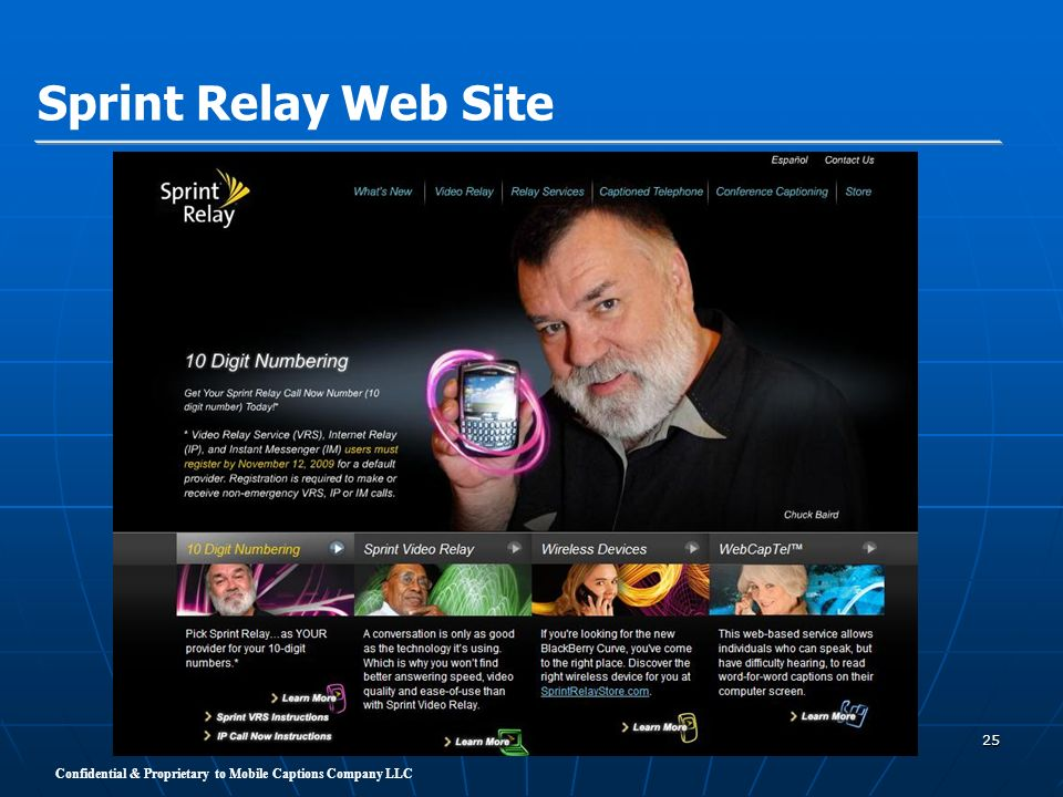 Sprint Relay Web Site