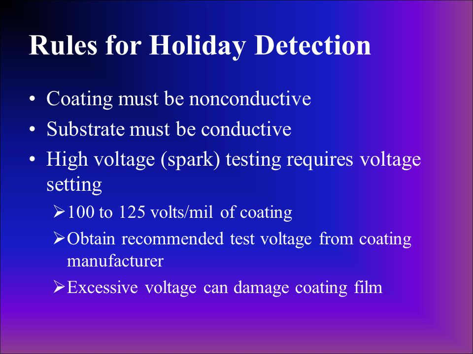 Rules for Holiday Detection
