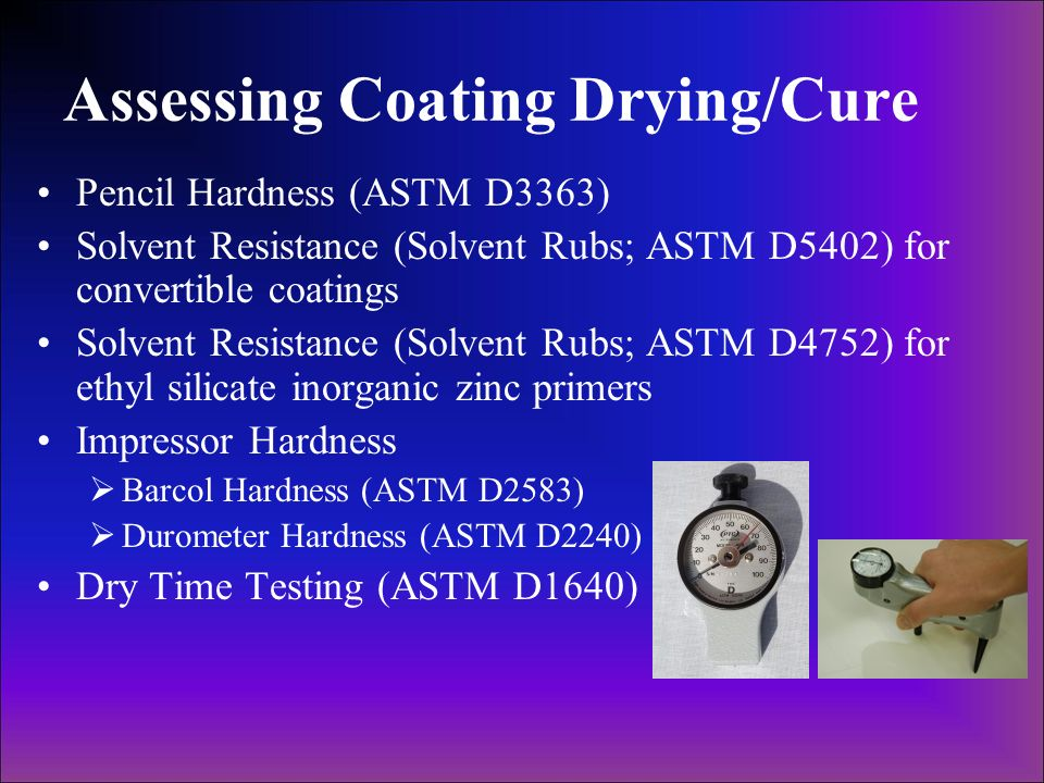Assessing Coating Drying/Cure