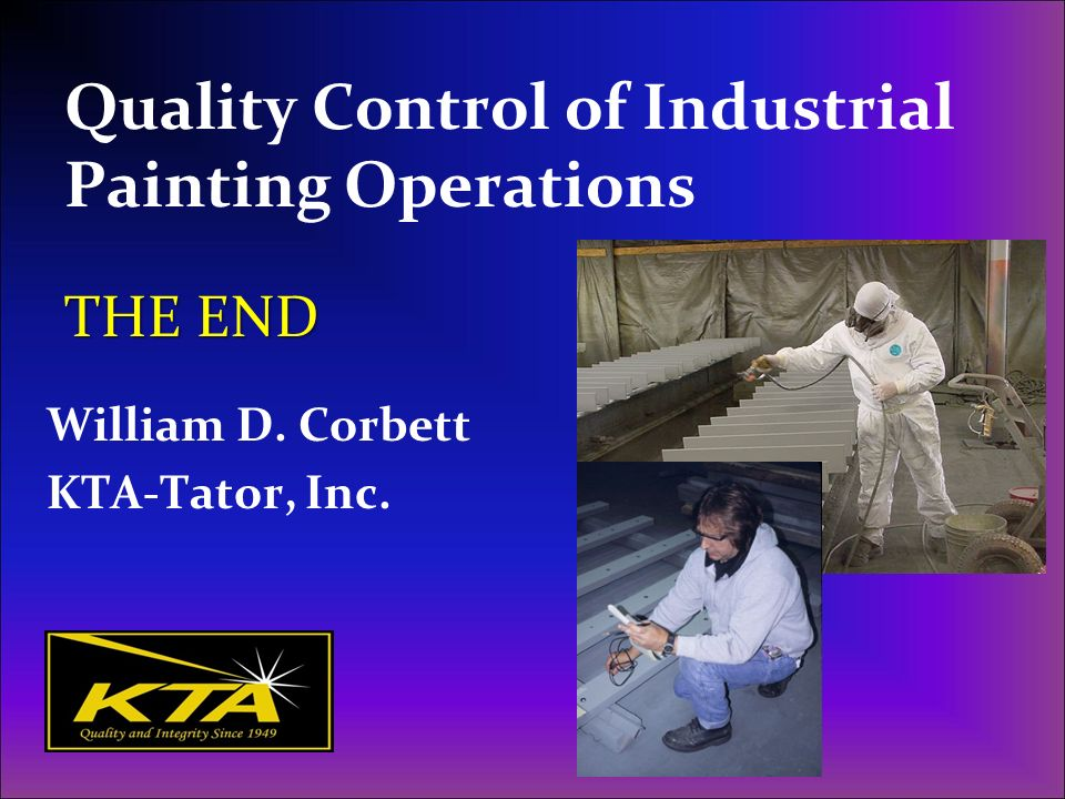 Quality Control of Industrial Painting Operations