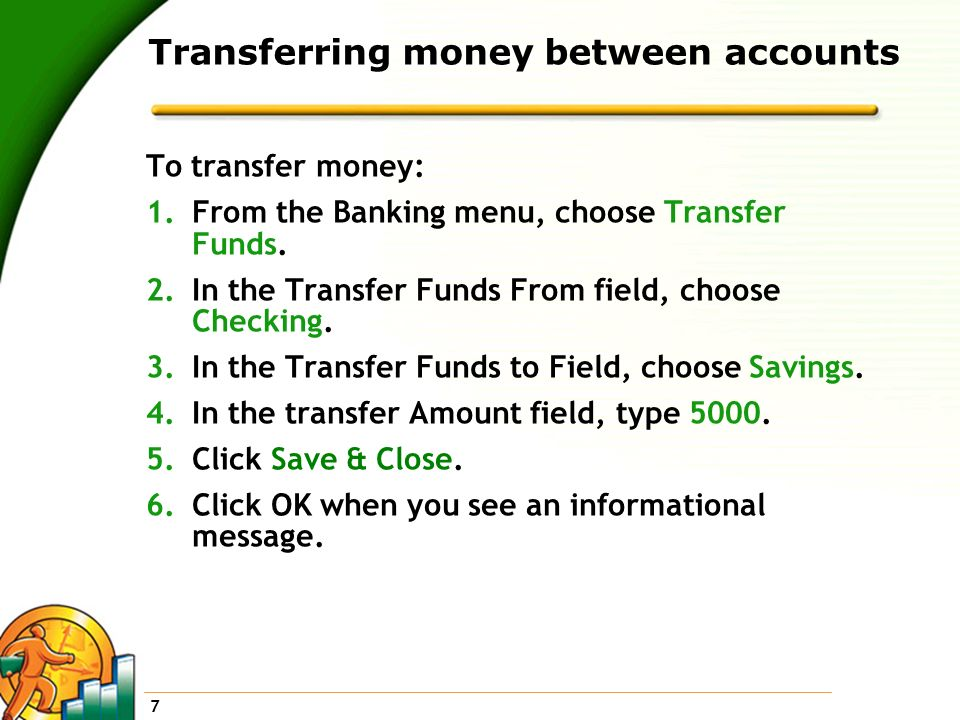Transferring money between accounts