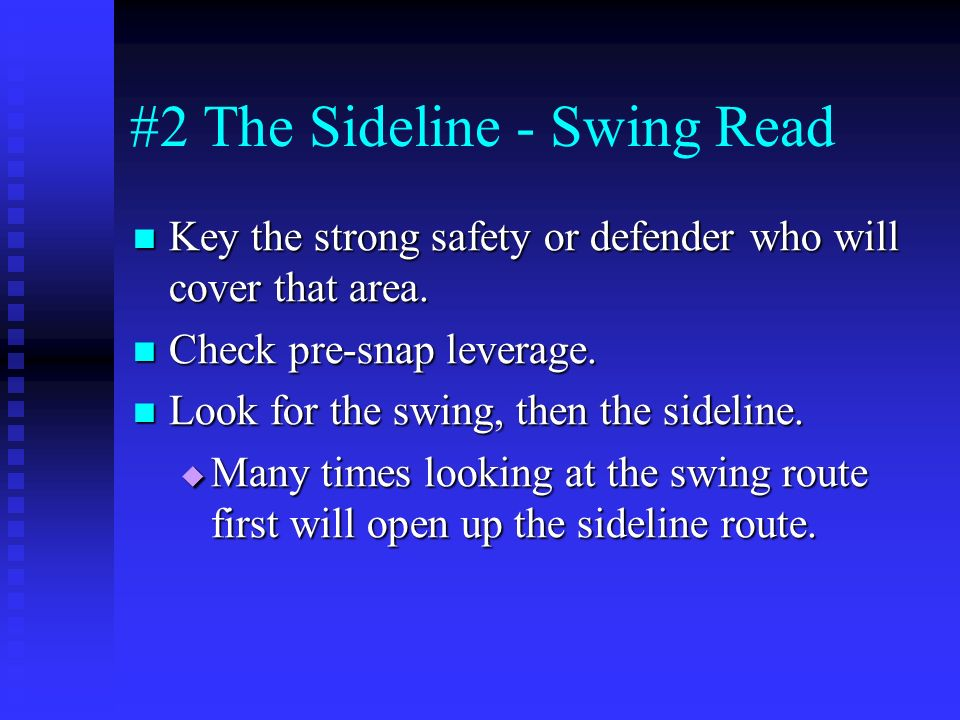 #2 The Sideline - Swing Read