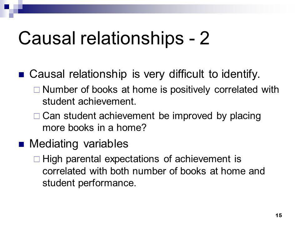 Causal relationships - 2
