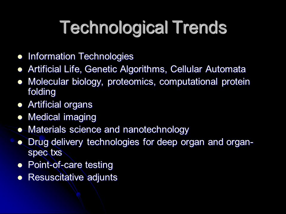 Technological Trends Information Technologies