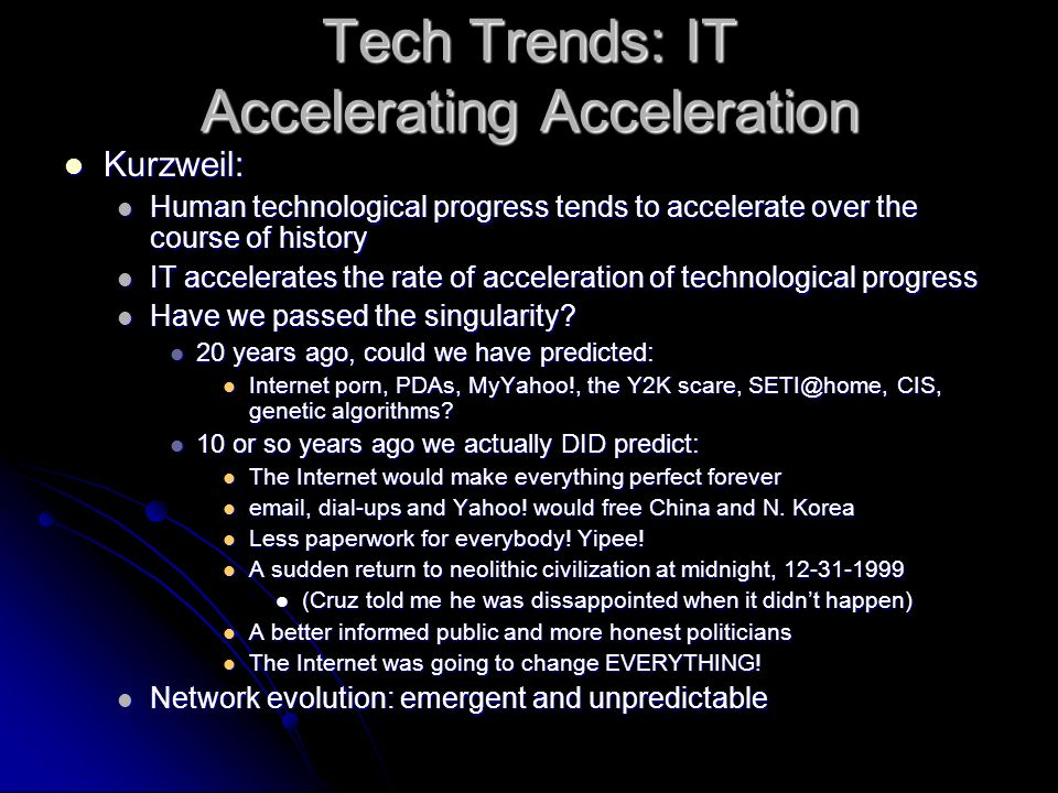 Tech Trends: IT Accelerating Acceleration