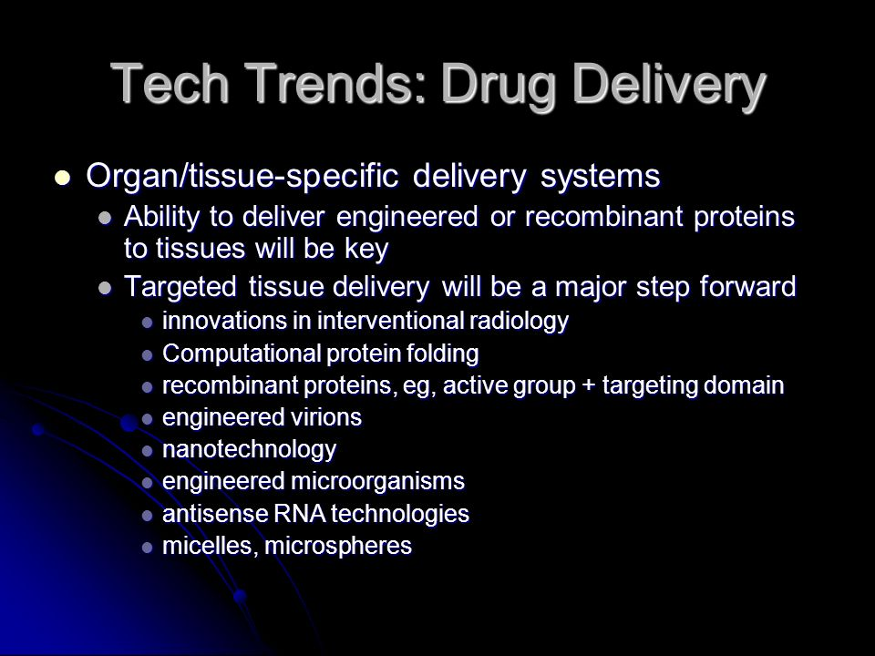 Tech Trends: Drug Delivery