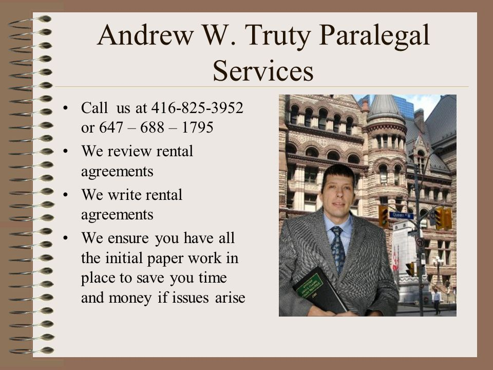 Andrew W. Truty Paralegal Services