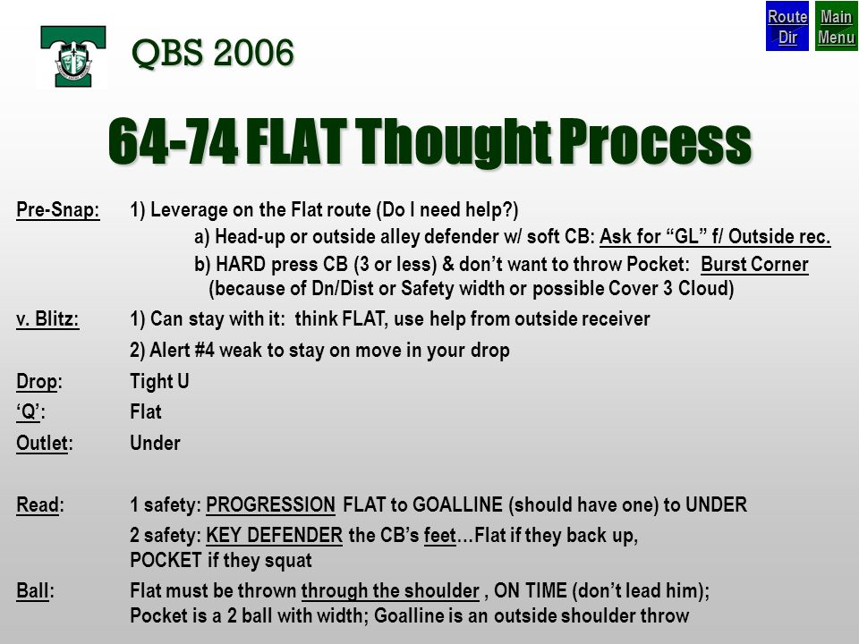 64-74 FLAT Thought Process QBS 2006