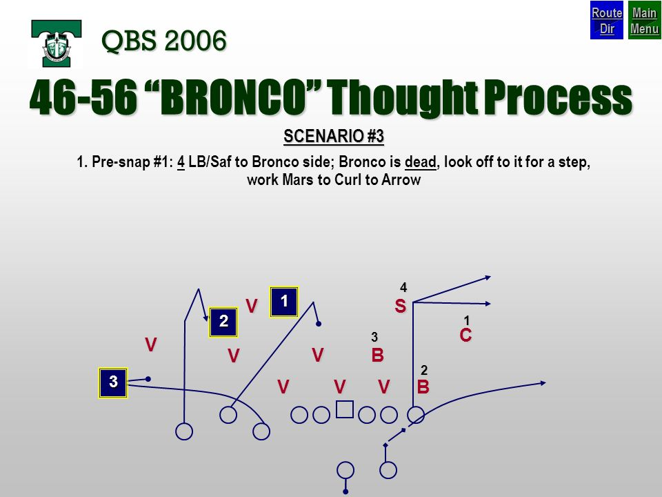 46-56 BRONCO Thought Process
