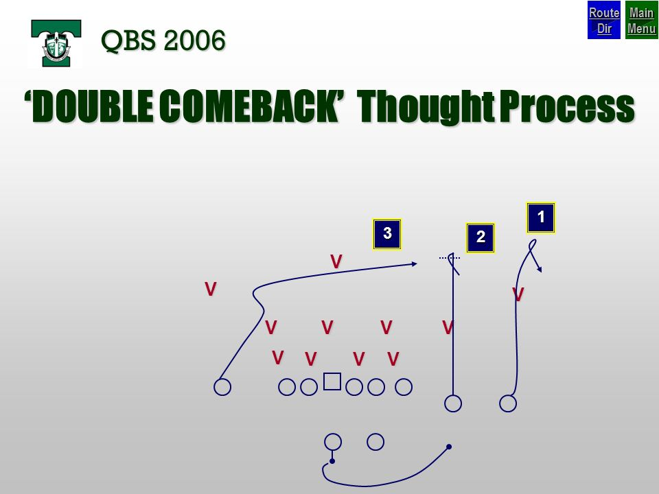 'DOUBLE COMEBACK' Thought Process