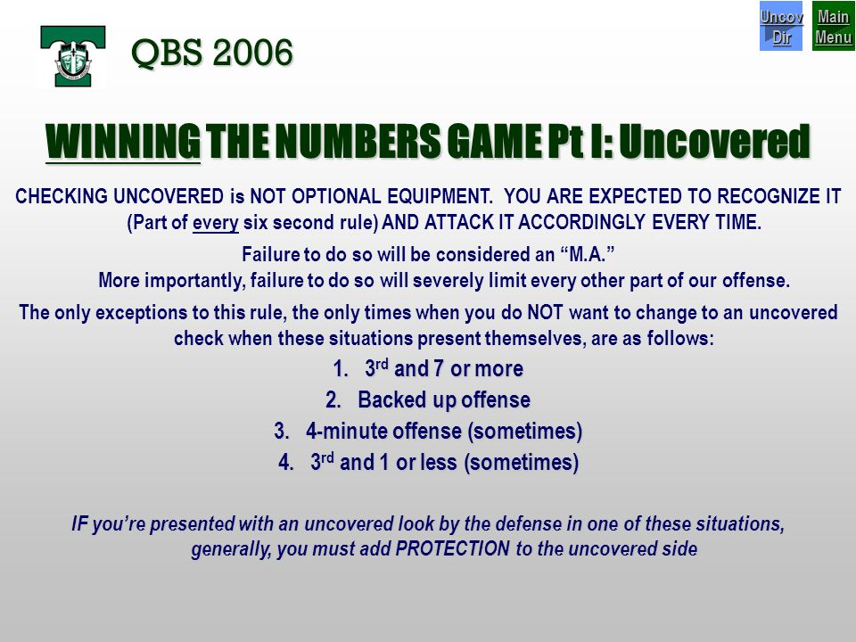 WINNING THE NUMBERS GAME Pt I: Uncovered