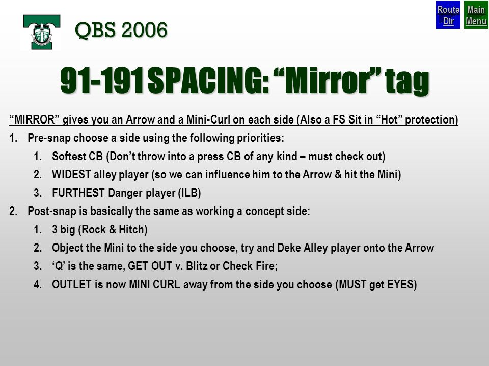 SPACING: Mirror tag