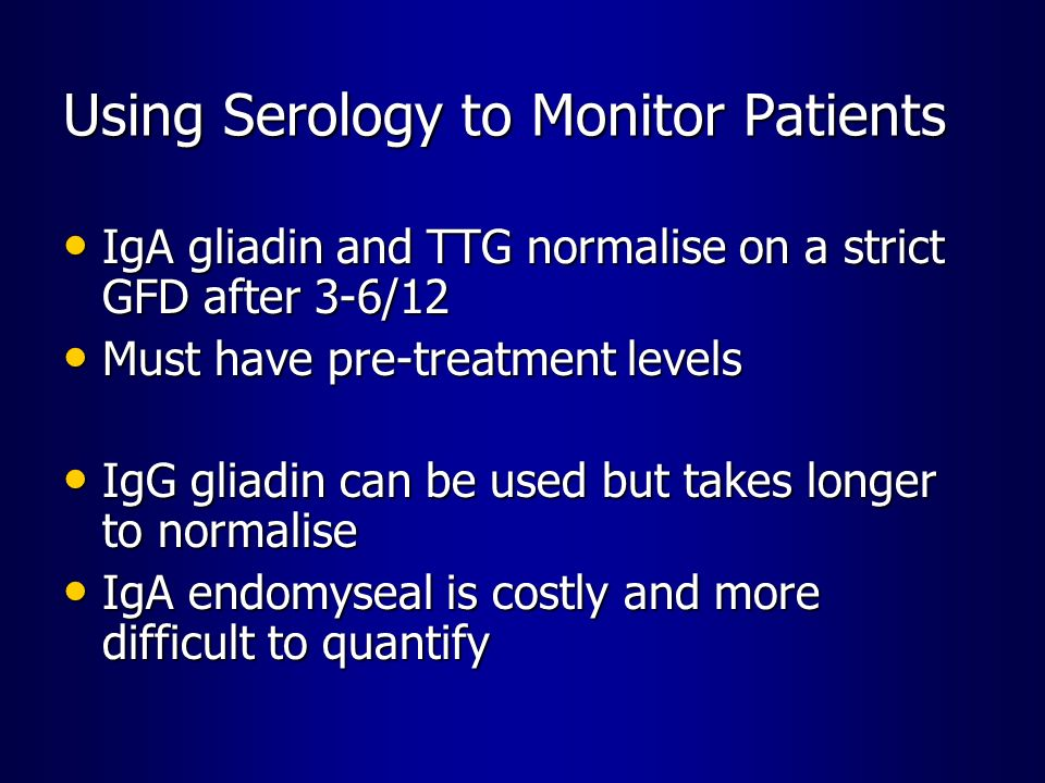 Using Serology to Monitor Patients
