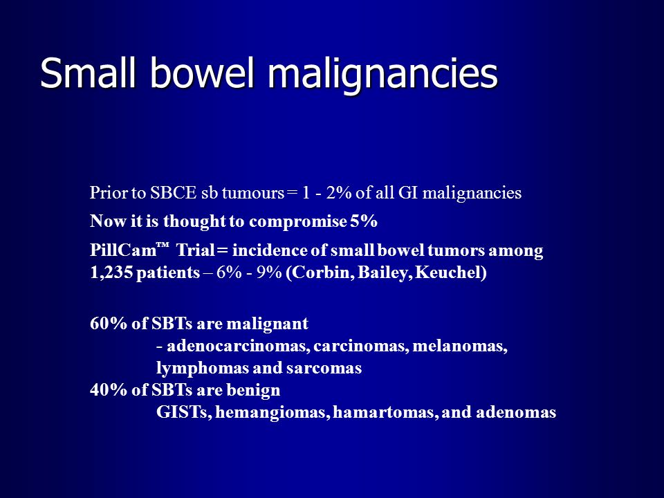 Small bowel malignancies