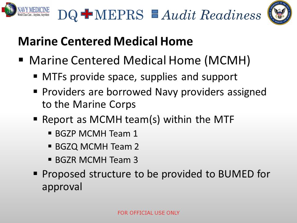 Marine Centered Medical Home