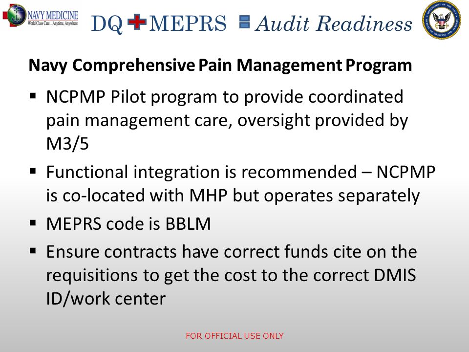 Navy Comprehensive Pain Management Program