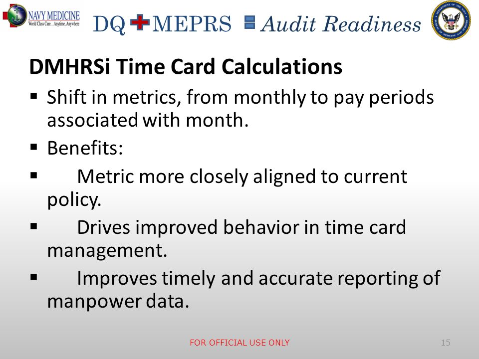 DMHRSi Time Card Calculations