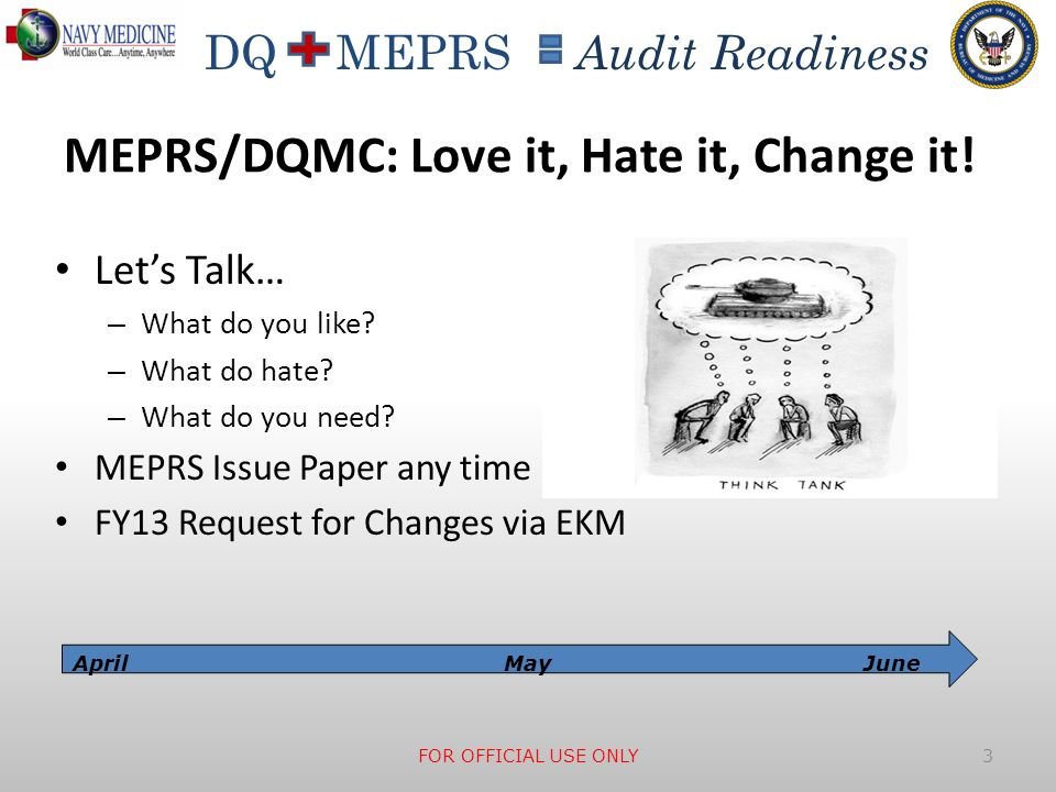 MEPRS/DQMC: Love it, Hate it, Change it!