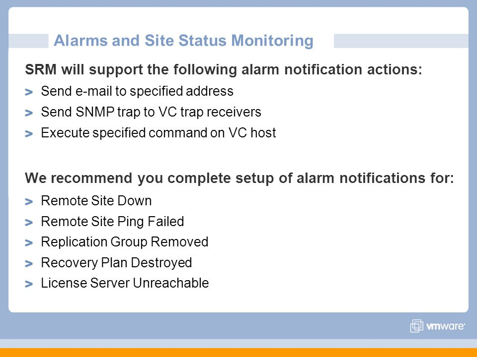 Alarms and Site Status Monitoring