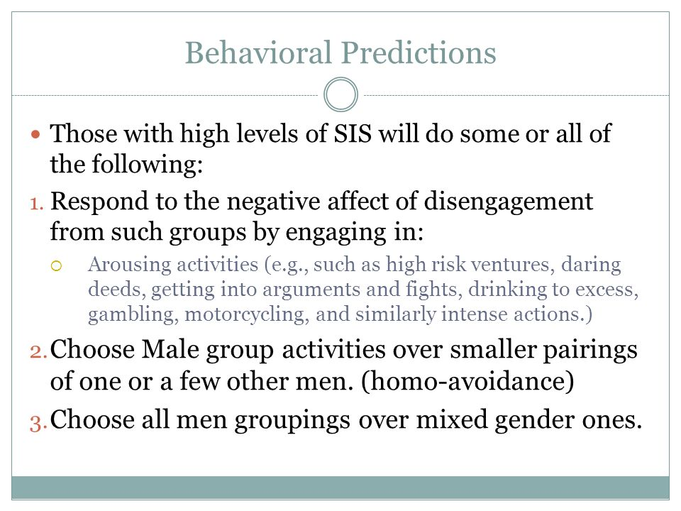 Behavioral Predictions