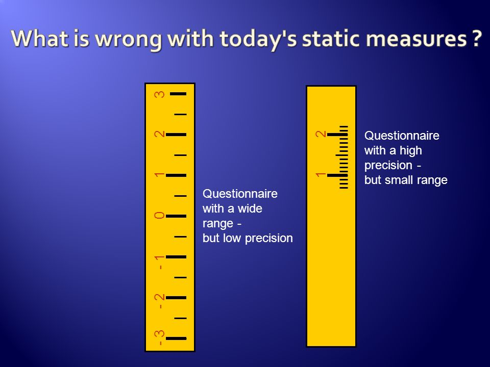 What is wrong with today s static measures