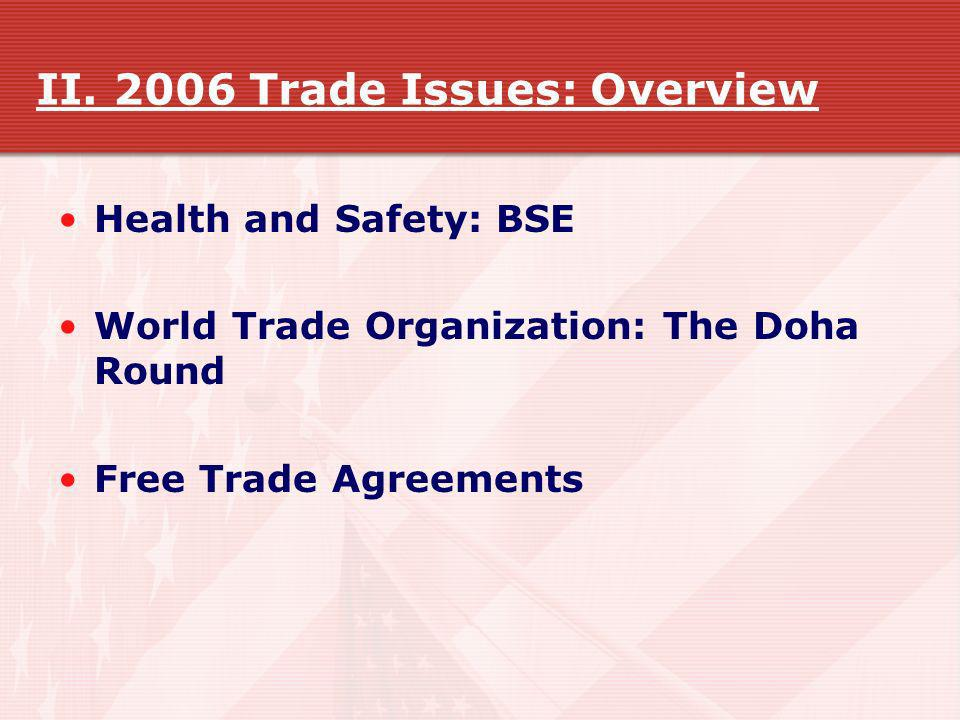II. 2006 Trade Issues: Overview