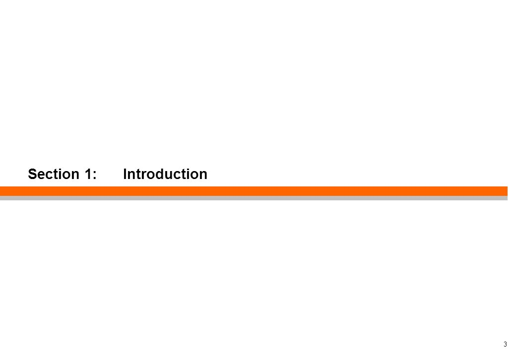 Section 1: Introduction